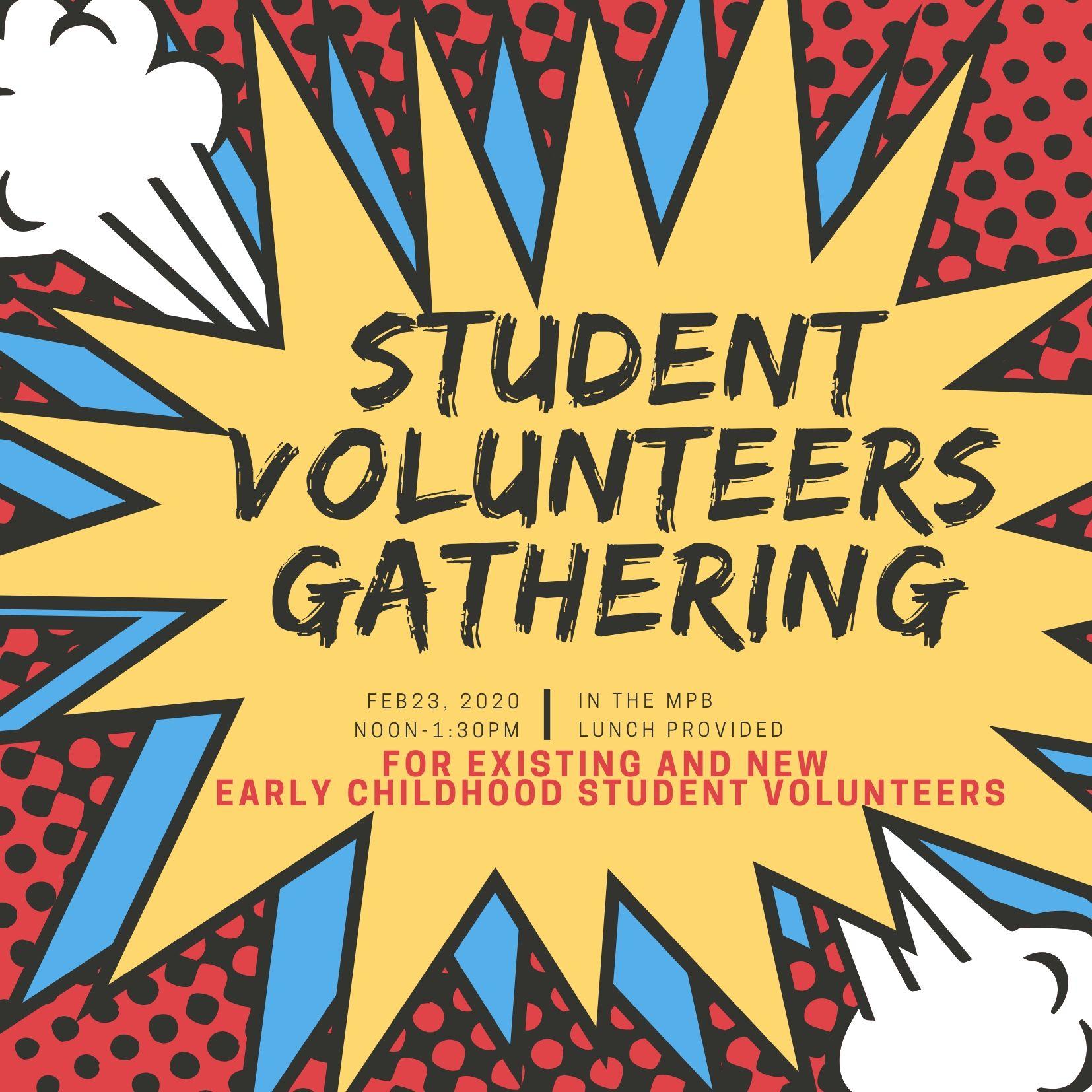 Student Volunteer Meeting